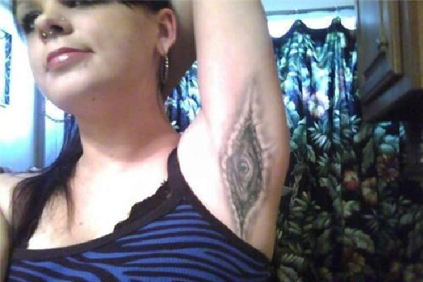 Just strange-Bizarre Armpit Tattoos