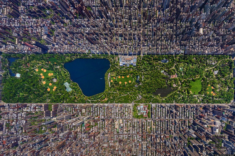 New York City-How Our World Appears To A Bird