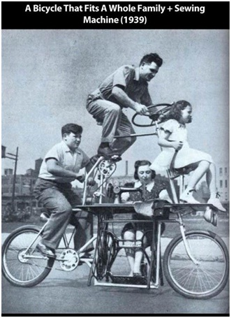 A Family Bicycle-Strangest Historical Inventions