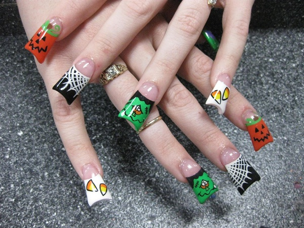 Multi-Spooky-Halloween Nail Art