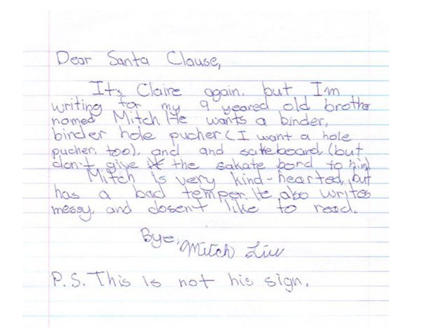 Santa Letter on Someone Else's Behalf-12 Hilarious Letters Ever Written To Santa Claus