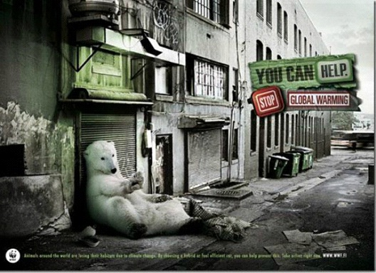 Where Will The Polar Bear Dwell?-24 Creative WWF Ads