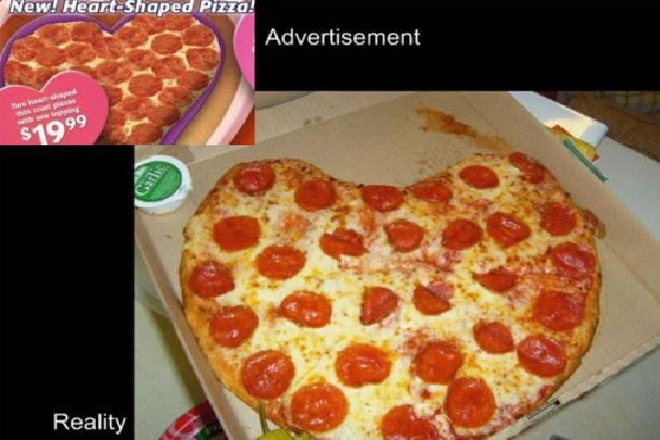 A Nice Hearty Pizza Hilarious Examples Of False Advertising
