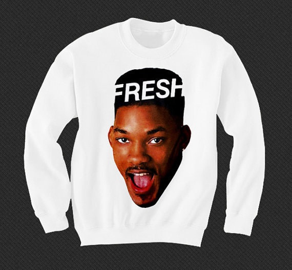 Fresh Prince jumper-Etsy Items That Will Remind You Of Your Childhood