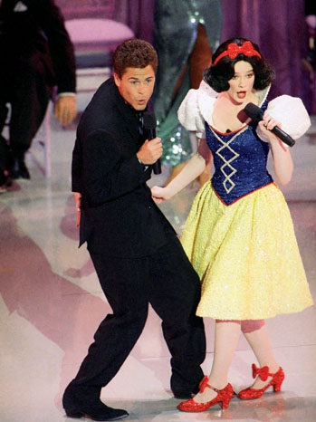 Rob Lowe and Snow White-Most Bizarre Moments At Oscars Ever