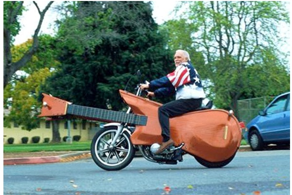Guitcycle-Surprising And Unusual Things Shaped Like A Guitar
