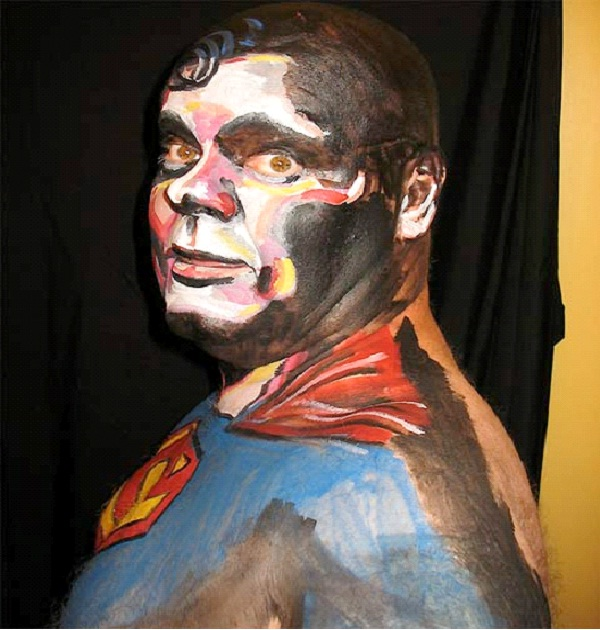 Superman-Most Incredible Face Paintings