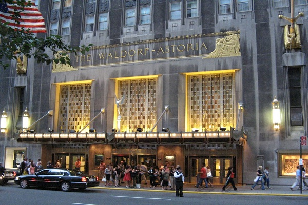 The Waldorf, New York-Most Famous Hotels Around The World