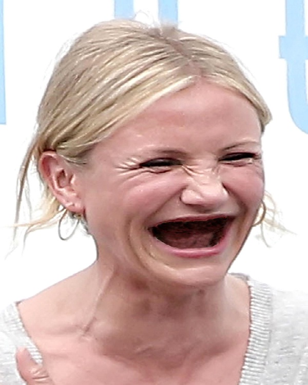 Cameron Diaz-Celebs Without Teeth