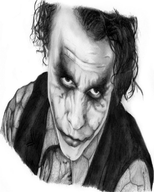 Thoughtful Joker-15 Best Joker Drawings That Give You Nightmares