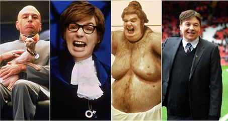 Mike Myers - Austin Powers, Dr. Evil and Fat Bastard-Celebrities From One Movie Role To Another