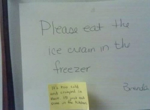 Don't Eat In The Freezer-12 Smart And Witty Replies To Written Notes