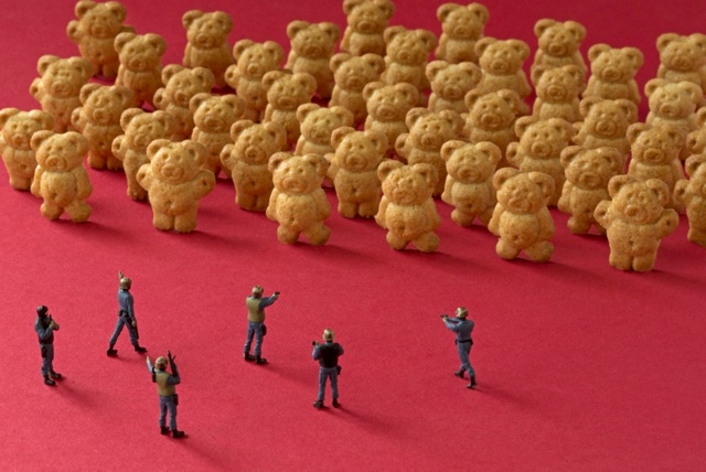 Against the teddy army-Adventures Of Tiny People In The World Of Food