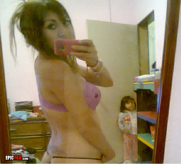 Thong In Front Of The Kid-Worst Facebook Parent Fails