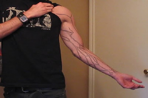 Vein Display-Wackiest Anatomical Tattoos