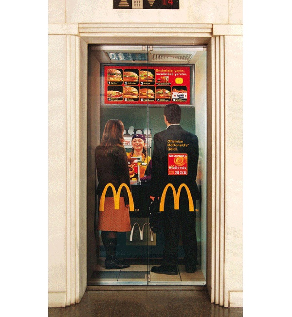 Is it McDonald's-Creative Elevator Ads