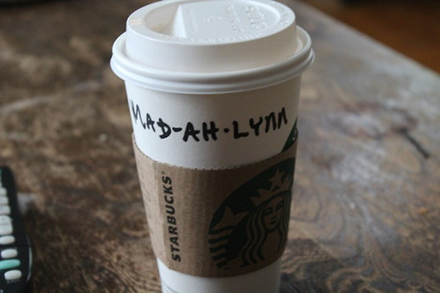 Do it phonetically-Funny Starbucks Cup Spelling Fails