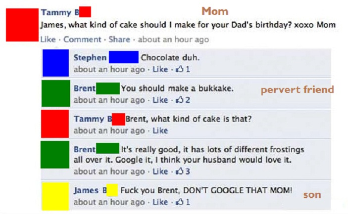 Bukka'cake'!-15 Images That Show You Shouldn't Add Your Mom On Facebook