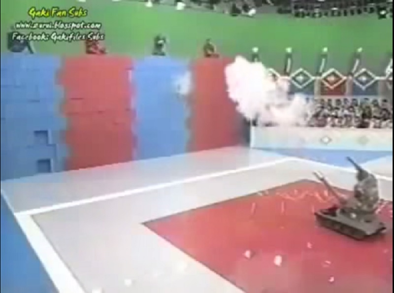 Surviving the Fall from Wall of Boxes-15 Weirdest Game Shows From Japan