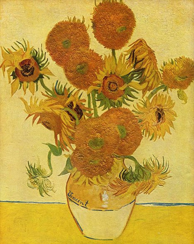 Vase With Fifteen Sunflowers By Vincent Van Gogh (.5 Million)-15 Ridiculous Paintings Sold For Millions Of Dollars