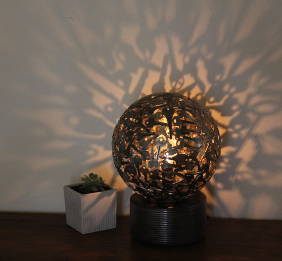 Large Spherical Shaped Tea Light Holder-15 Beautiful Items That Are Carved Out Of Scrap