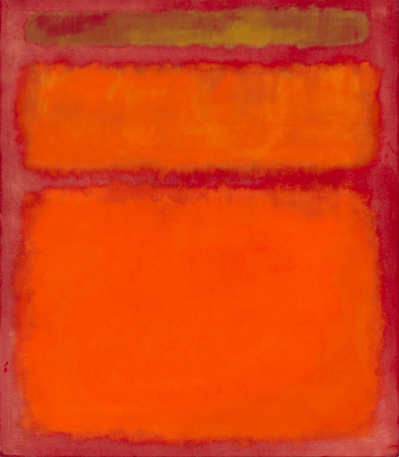 Orange, Red, Yellow, 1961 by Mark Rothko (.9 Million)-15 Ridiculous Paintings Sold For Millions Of Dollars