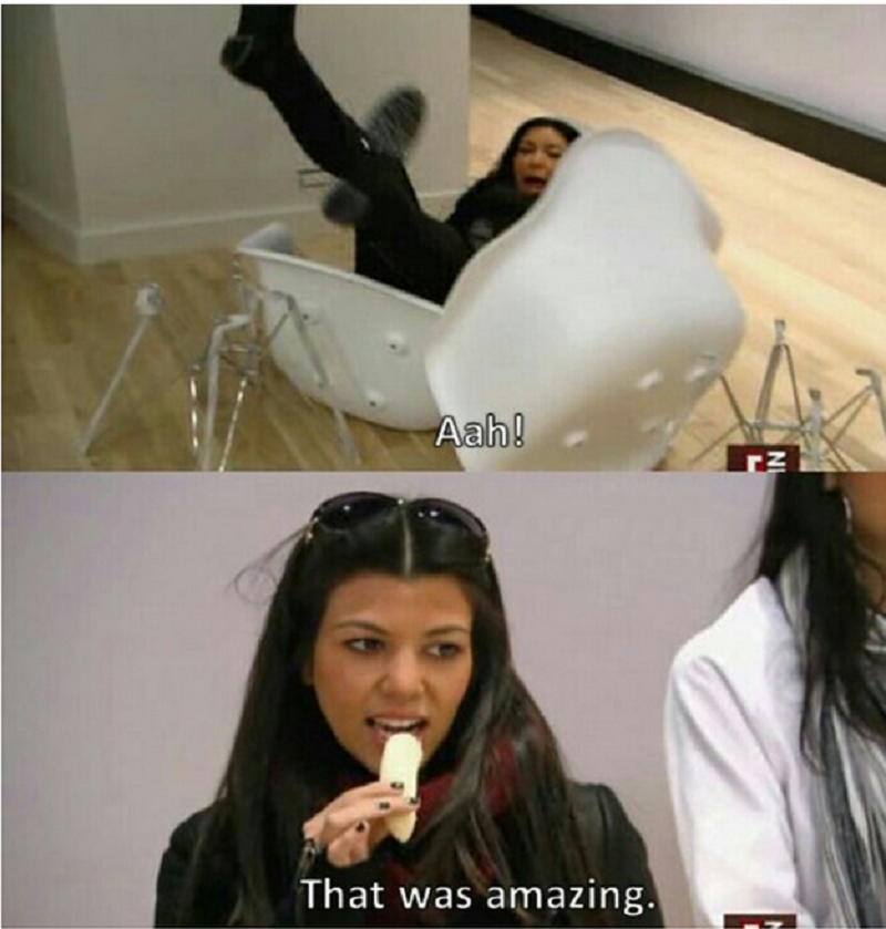 This Reaction From Kourtney When Kim Falls Off Chair-15 Times Kim Kardashian Was Shut Down By Her Family