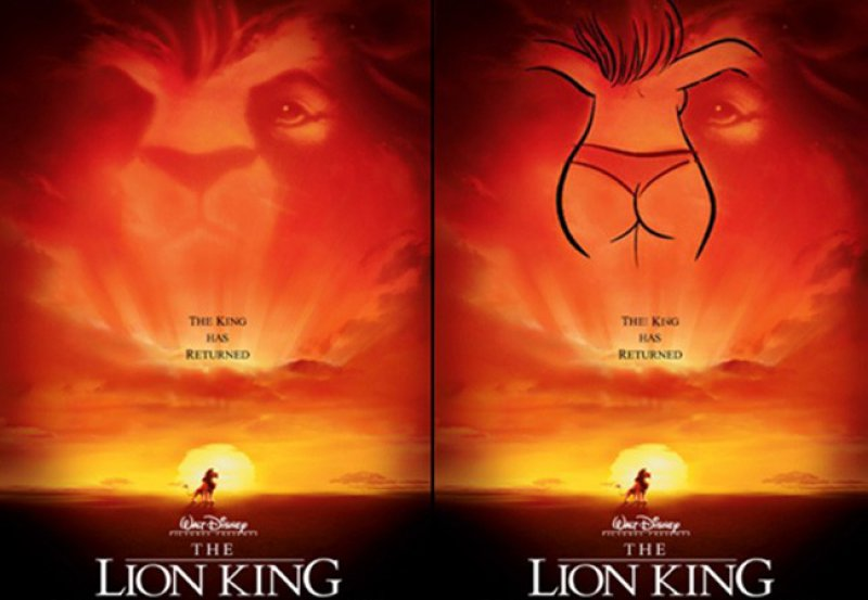 Lion King Bikini Poster-15 Images That Will Ruin Your Childhood Forever