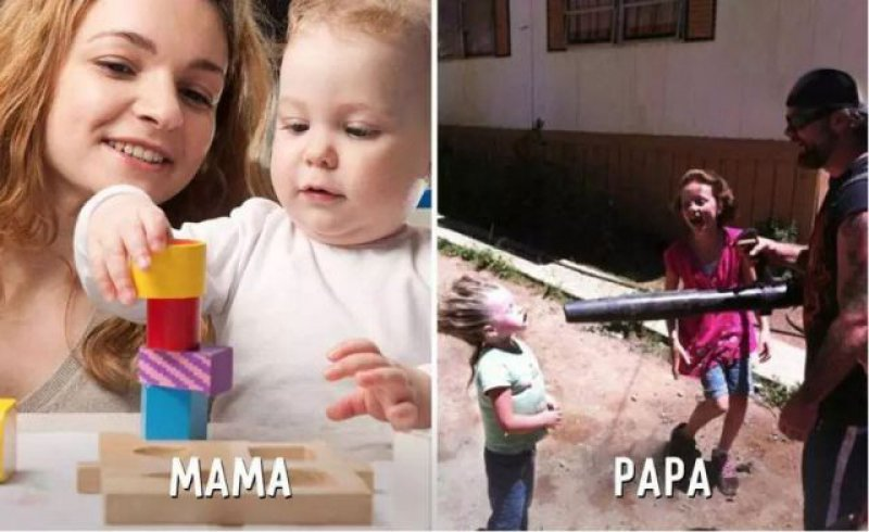 Playtime - Mom vs. Dad-15 Hilarious Differences Between Mom And Dad