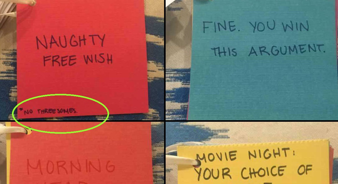 15 Awesome Coupons Made By This Girl for Her BF on Their Anniversary