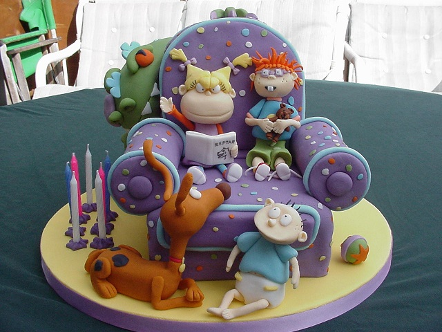Rugrats Cake-15 Amazing 3D Cartoon Model Cakes Ever