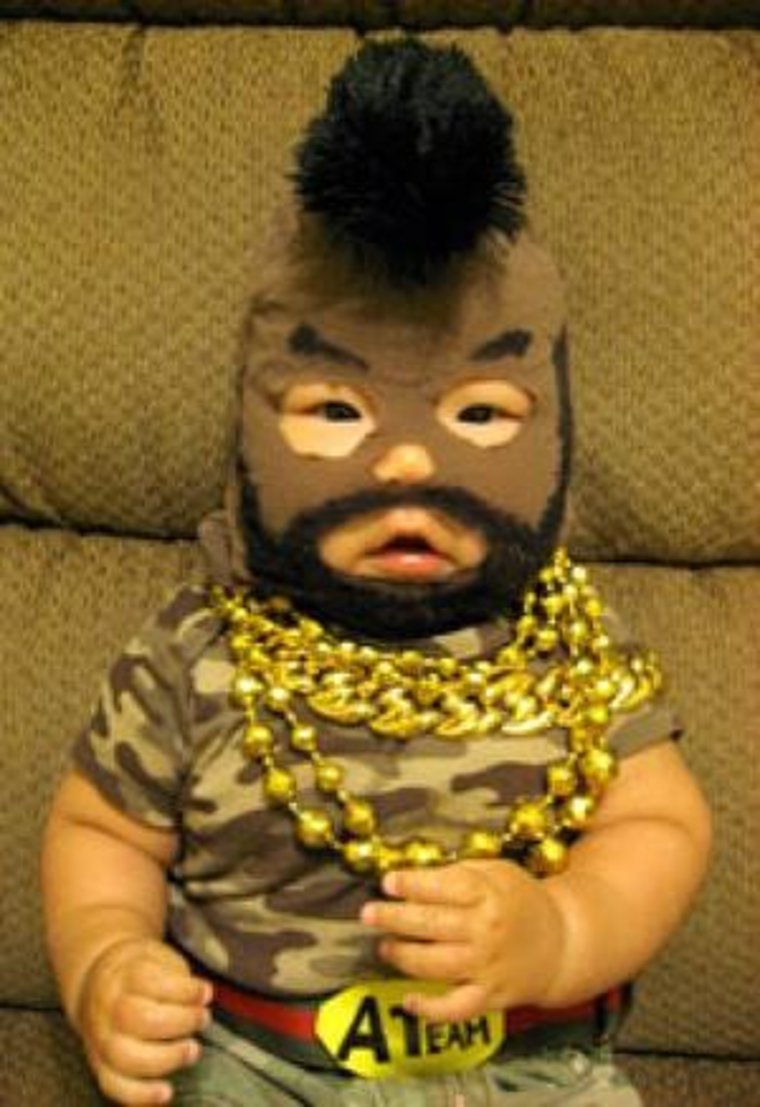 This Funny Mr. T Costume-15 Disgusting Kids Halloween Costumes Ever