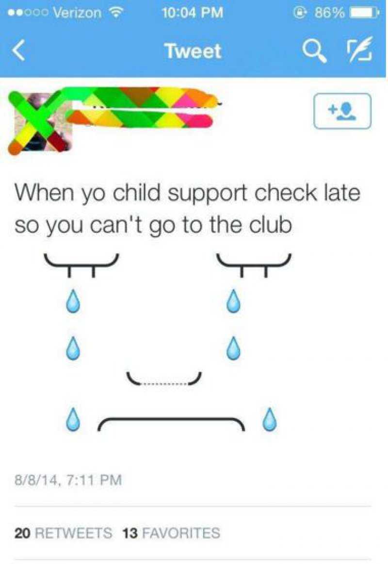 Misusing Child Support and Announcing that on Twitter-15 Most Disgusting People In The History Of Twitter