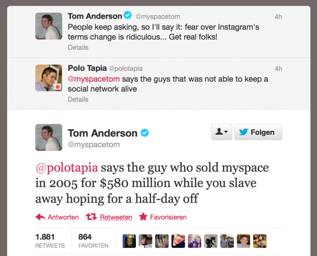 Tom Anderson Vs. Polo Tapia-15 Hilarious Twitter Comebacks Ever