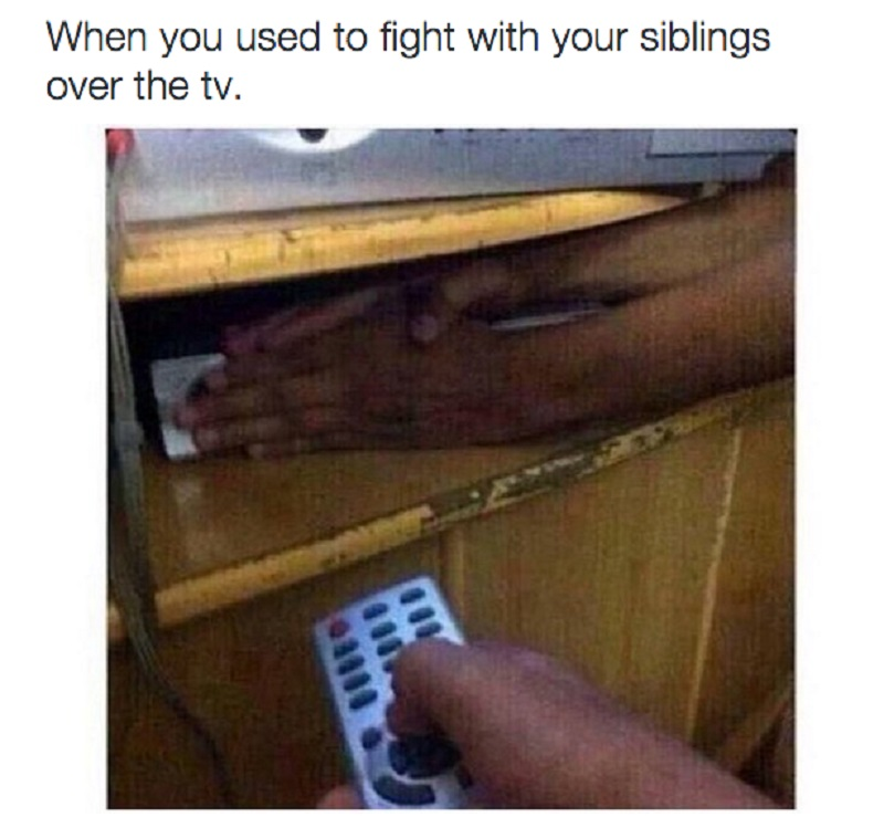 The Eternal Fight Over Remote-15 Hilarious Images You Can Relate To If You Have Siblings