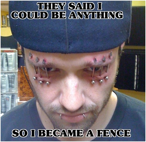 Eye Fence-Best 'They Said I Could Be Anything.' Memes