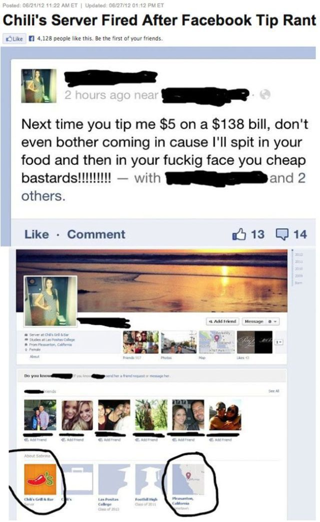 Girl fired by Boss for being a greedy waitress-15 Times Employees Got Fired By Their Boss