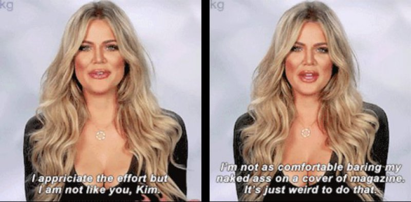 Reaction on Kim's Infamous 'Bare Butt' Magazine Cover Photo-15 Times Khloe Kardashian Perfectly Shut Down Her Family