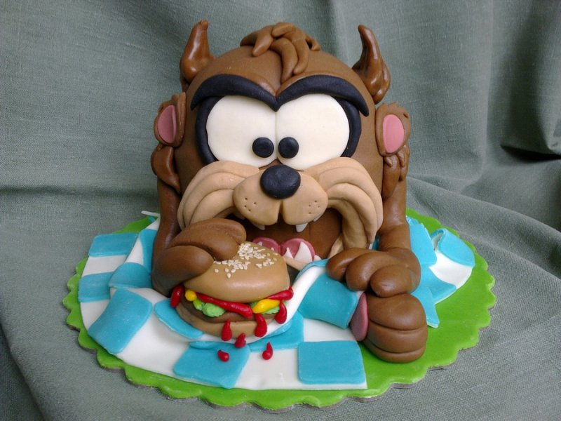 Tasmanian Devil (Looney Toons) Cake-15 Amazing 3D Cartoon Model Cakes Ever