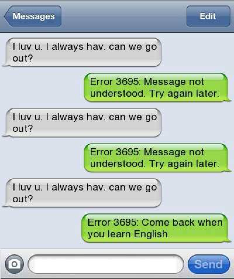 Error 3695: We Didn't Understand the Message Either-15 Hilarious Responses From Grammar Nazis