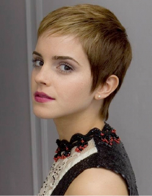Emma Watson-12 Celebrities With Really Short Hair