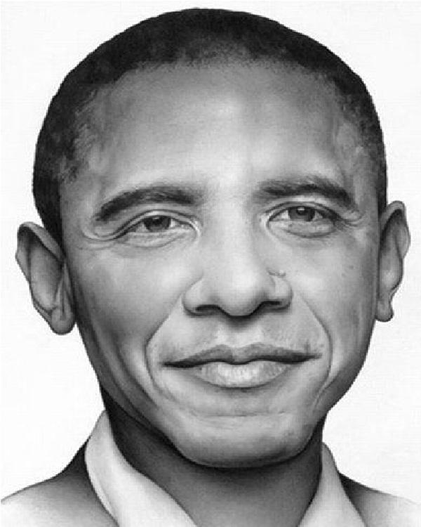 President Obama-Mind Blowing Pencil Art