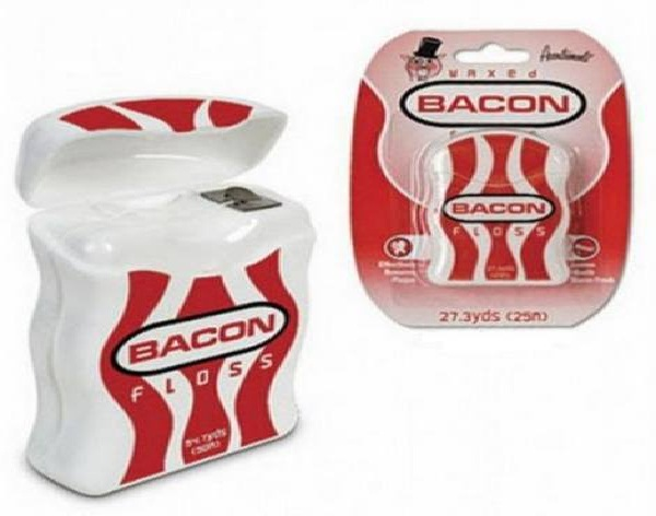 Bacon floss-Craziest Products Inspired By Bacon