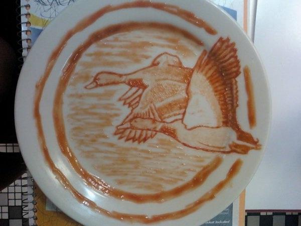 Ducks-Amazing Ketchup Art