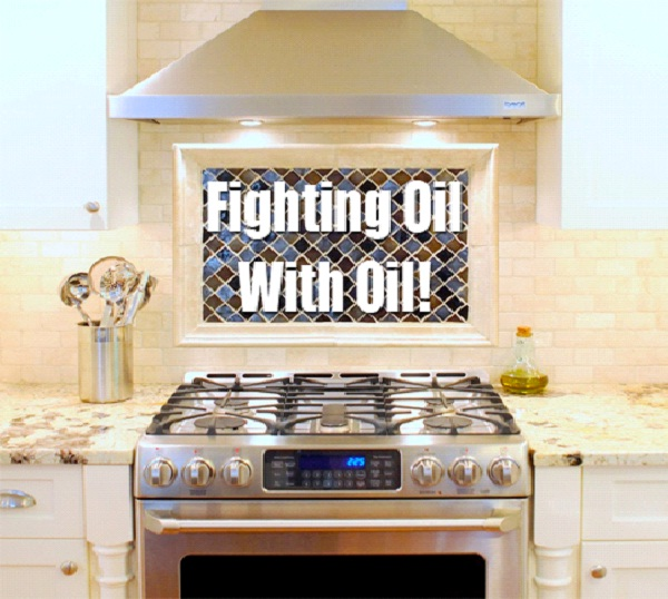 Clean Oily Stove With More Oil-Amazing Household Cleaning Hacks