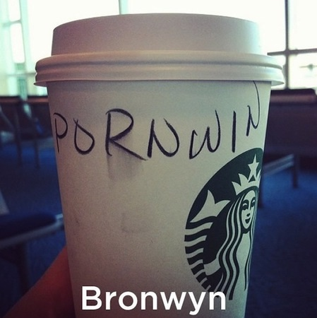 Everyone wins at porn-Funny Starbucks Cup Spelling Fails