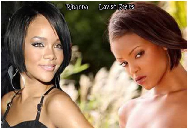 Rihanna Vs. Lavish Styles-Celebrities & Their Pornstar Lookalikes