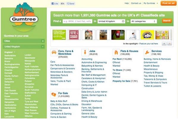 Gumtree-Best Free Classifieds Websites