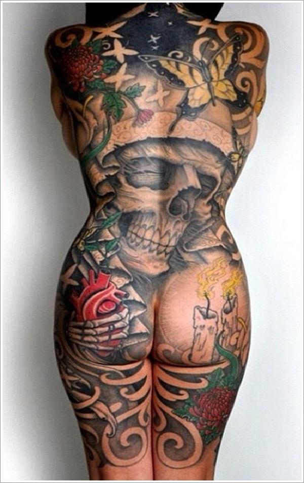The skull-Full Body Tattoos