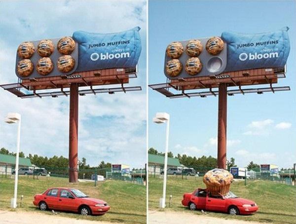 Big muffins-Brilliantly Clever Billboard Ads